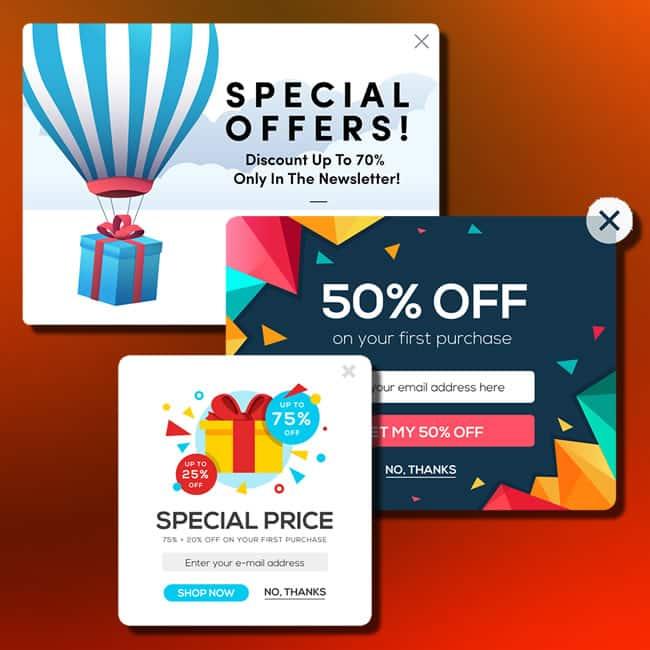 Ventanas emergentes o pop-ups como campaña de marketing online